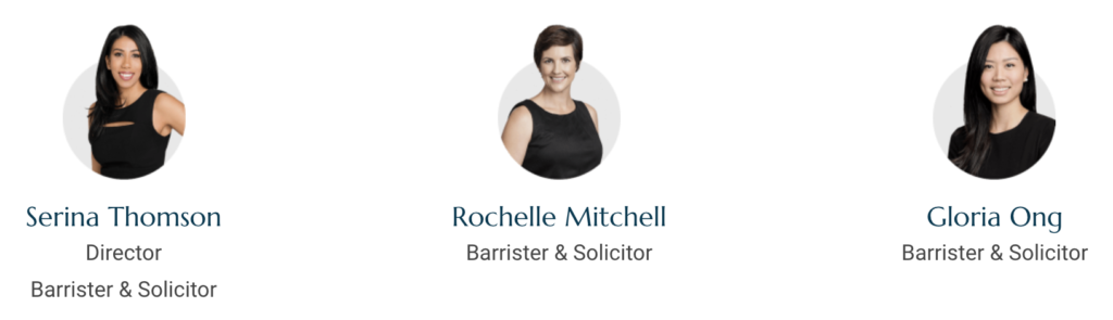 Divorce lawyer team at Thomson Family Lawyers
