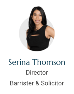 Barrister and Solicitor Serina Thomson Perth